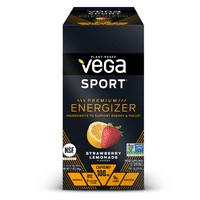 Vega Sport Pre Workout Energizer Powder, Strawberry Lemonade, 0.6 Oz, 12 Ct