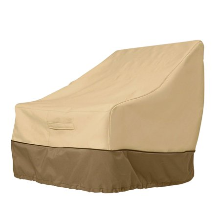Ustyle Patio Chair Cover Lounge Deep Seat Cover Waterproof Outdoor Lawn Furniture Cover - Coffee + Khaki - image 3 of 9