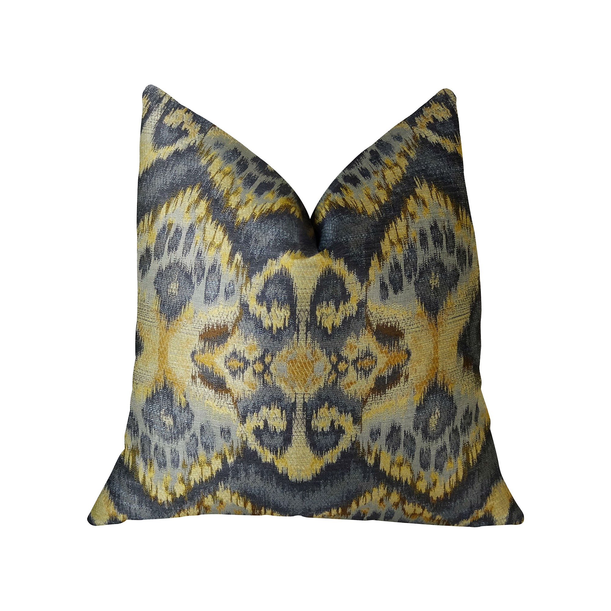Plutus Rhythm Waves Handmade Throw Pillow, Double Sided