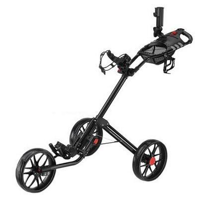 CaddyTek 15.3 Quad-Fold Golf Push Cart, Black