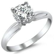 Noori Collection Noori 14k White Gold 1/2ct TDW Round Solitaire Diamond Engagement Ring