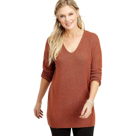 Solid Bar Back Tunic Sweater (Maurices Tunic Sweater)