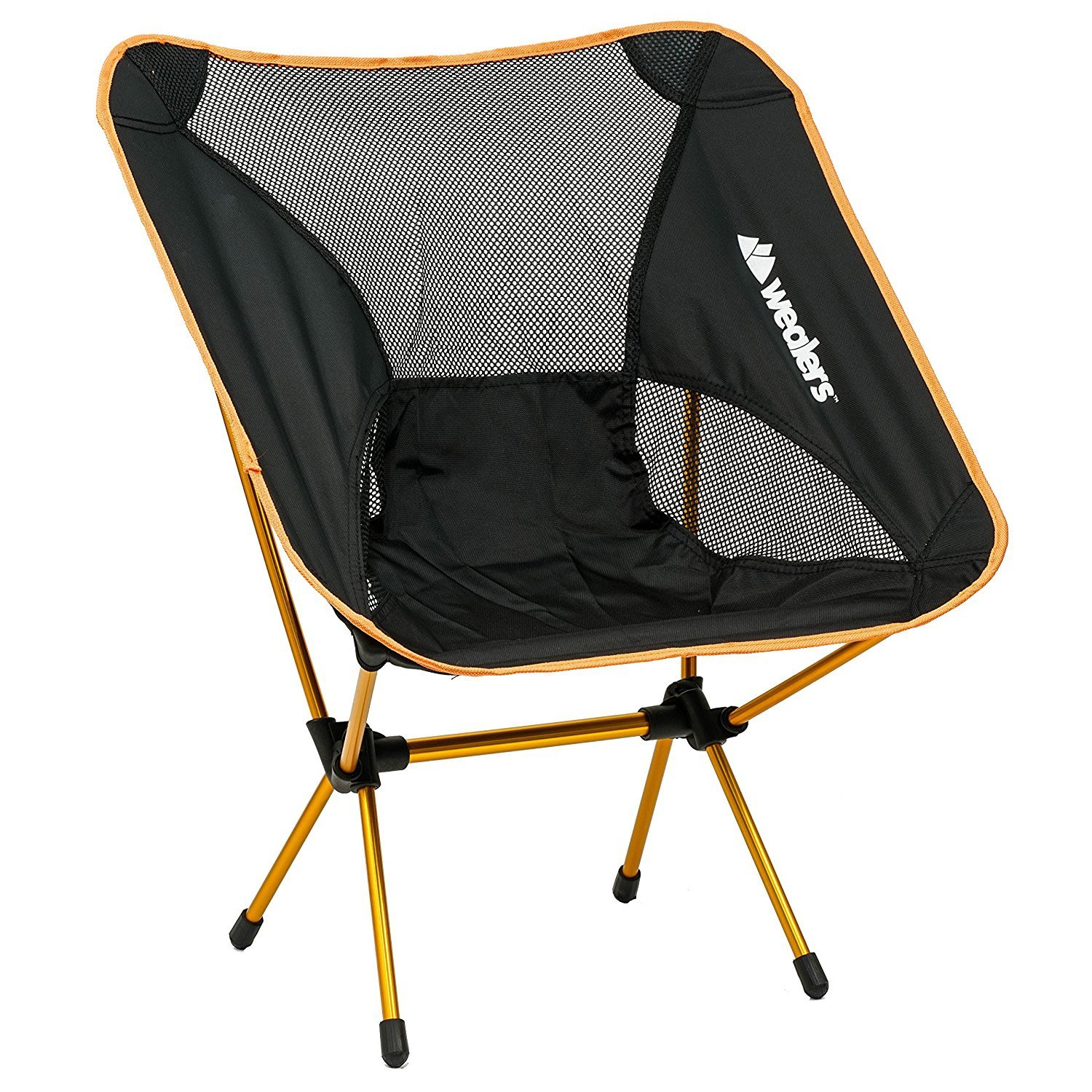 Compact Foldable Beach backpacking Chair Potable Stool Made Of Ultra Lightweight Aluminium Alloy Super Comfort Perfect for Sport Outdoor Events, Camping, Fishing, Picnic, By Wealers