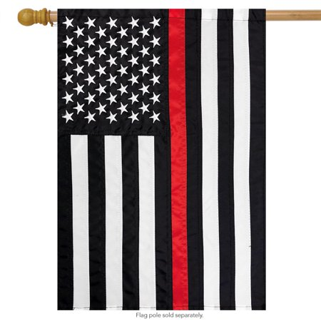 Thin Red Line Embroidered House Flag Firefighter 28
