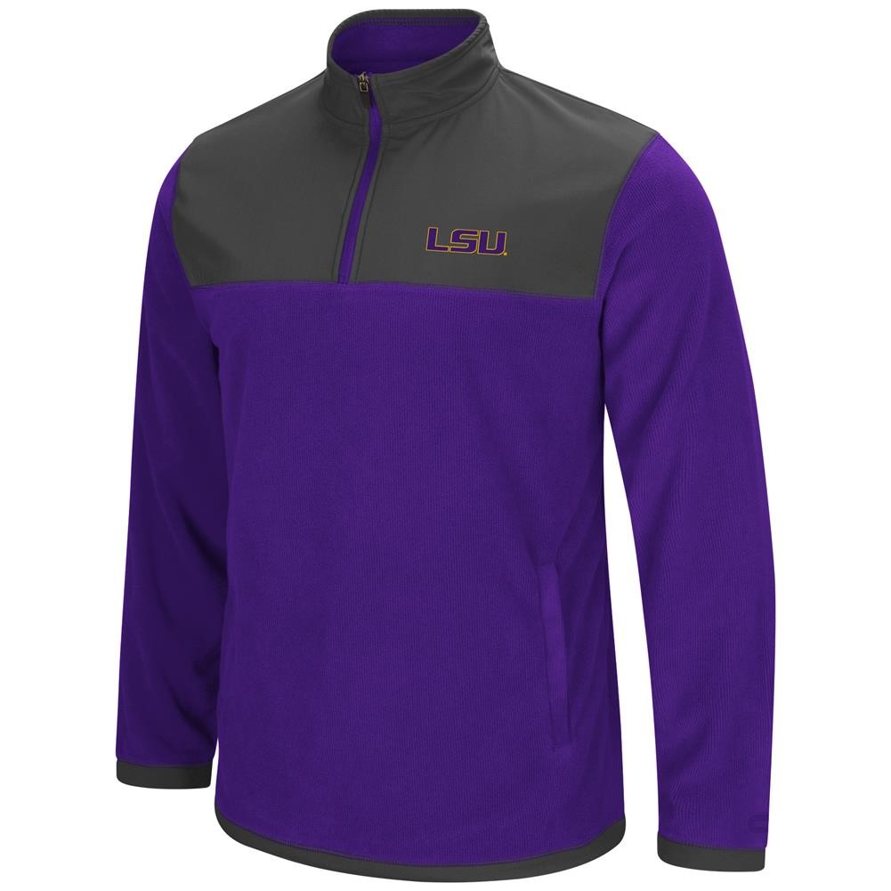 LSU Tigers Louisiana State Men's Full Zip Fleece Jacket by Colosseum
