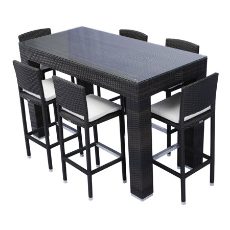 Super Source Outdoor Bar Height Patio Dining Set Seats 6 Cjindustries Chair Design For Home Cjindustriesco