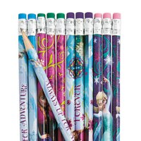 Disney Frozen Pencils for Birthday - Party Supplies - Licensed Tableware - Misc Licensed Tableware - Birthday - 12 Pieces
