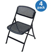 Flex One Folding Chairs, Set of 4, Multiple Colors