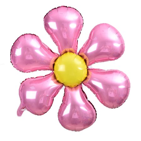 Foil Flower Design Balloon Wedding Party Birthday Decoration Pink Yellow - Pink Birthday Decoration