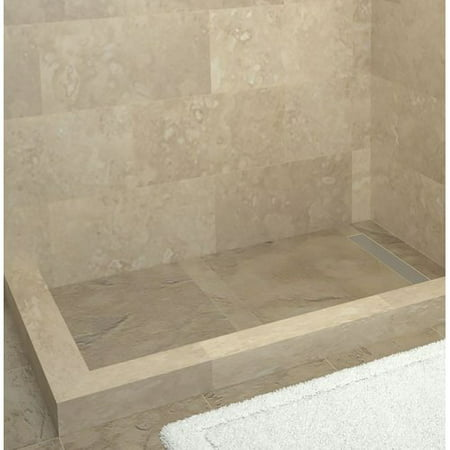 Tile Redi Plank Pitch Double Threshold Shower Base with Drain Cover