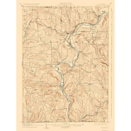 Topographic Map Neneveh New York Quad Usgs 1905 23 X 30 58