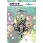 """IndigoBlu Cling Mounted Stamp 5""""X8""""-Lotus"""