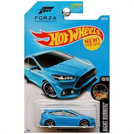 Hot Wheels Blue Card - hot wheels 2016 night burnerz forza motorsport '16 ford focus rs 90/250, blue