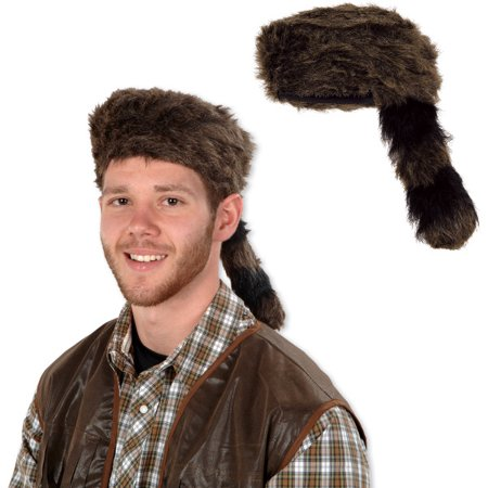 Beistle 60264 Coonskin Cap - Pack of 6