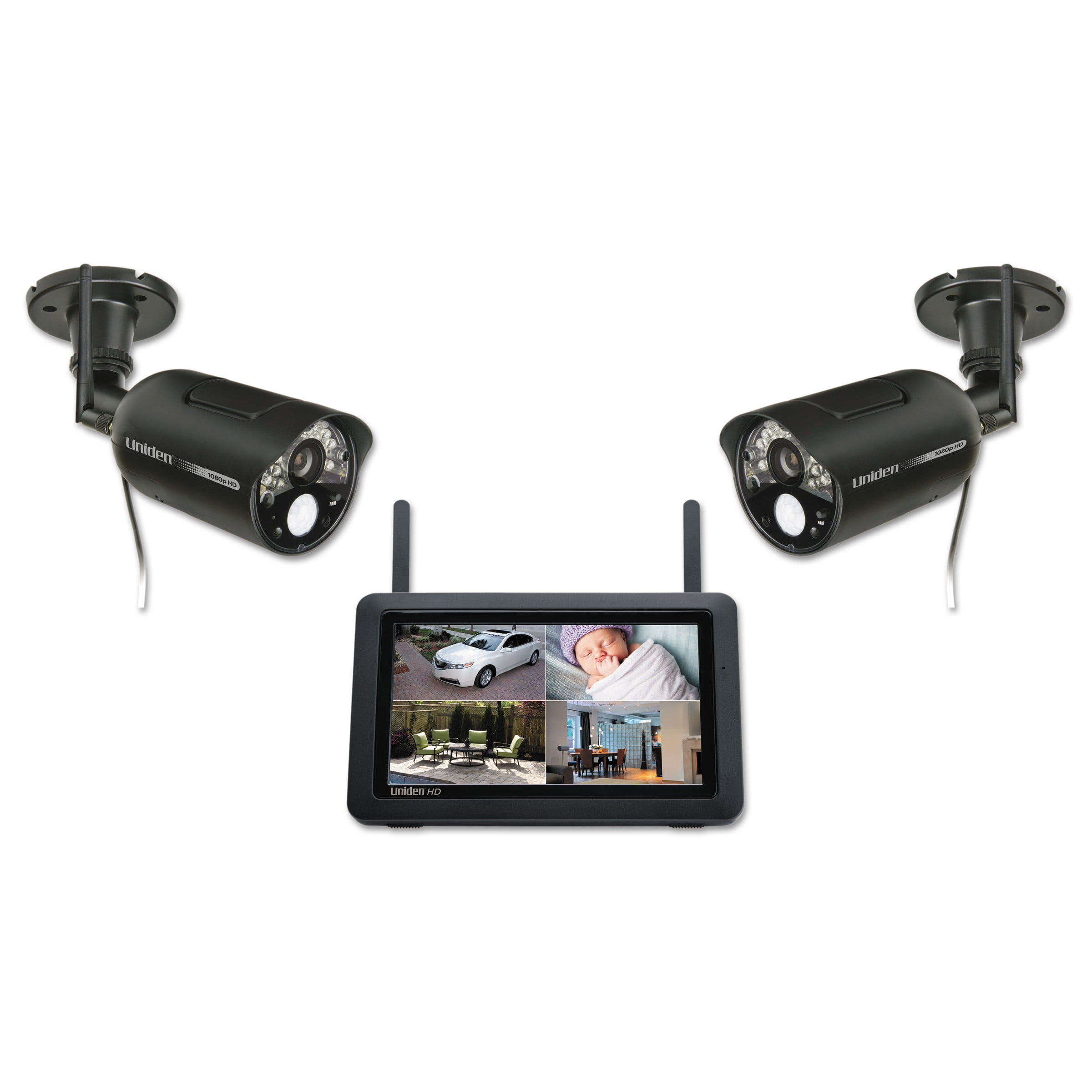 Uniden UDR777HD 1080p Home Security and Video Monitoring System with Two Cameras by Uniden