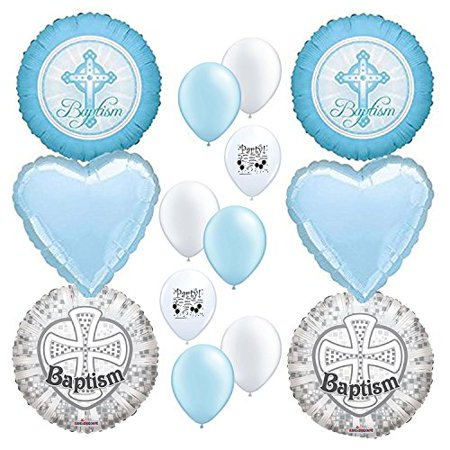 Baptism Party Supplies Boy Balloon Decoration Kit Religious Event