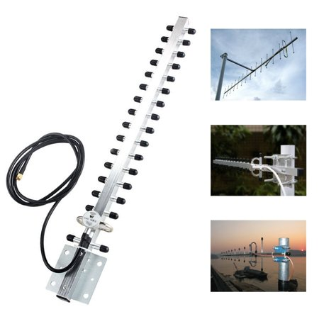 2.4ghz Wifi Antenna 25dbi Rp Sma Outdoor Wireless Yagi Antenna Directional In Pain Computers/tablets & Networking