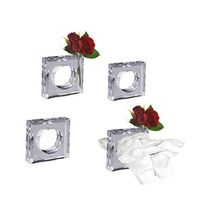 Clear acrylic napkin rings flower vase set of 4 great gift 2 in 1 clear acrylic napkin rings flower vase set of 4 great gift 2 in 1 mightylinksfo