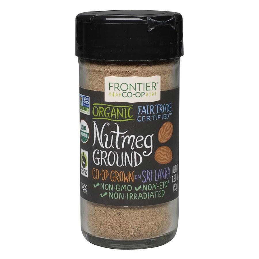 Frontier Ground Organic Fair Trade, Nutmeg, 1.9 Oz by Frontier