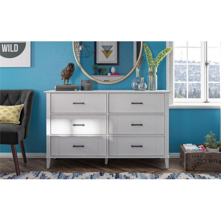 Novogratz Hazelridge 6 Drawer Dresser, White