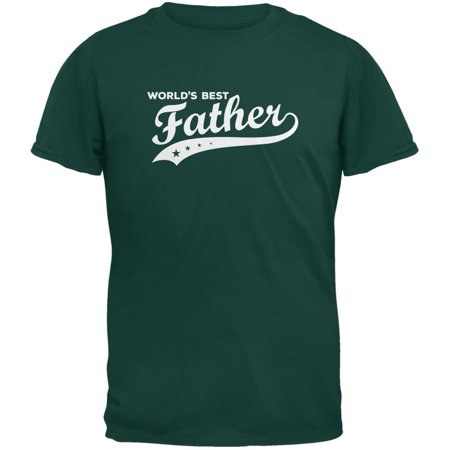 Father's Day - World's Best Father Forest Green Adult