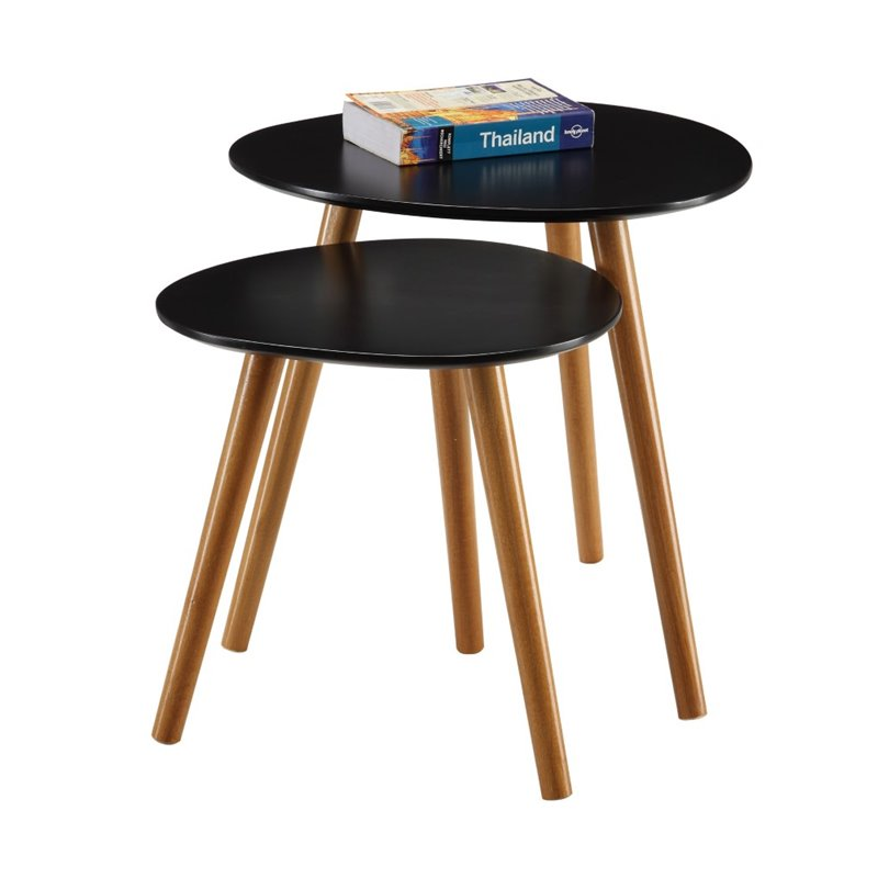 Pemberly Row 2 Piece Nesting Table Set in Black - image 3 de 3