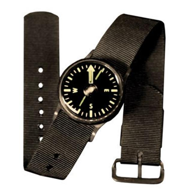 Tritium Wrist Compass With Black Wrist Band by Overtime