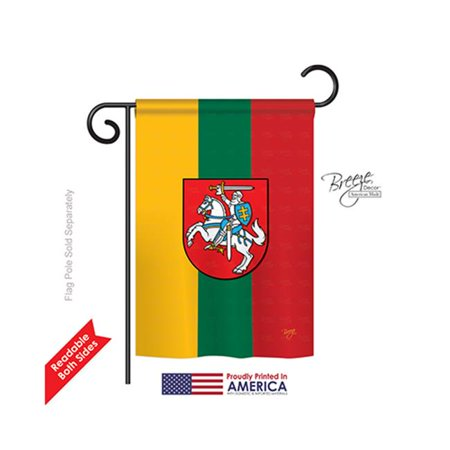 Breeze Decor 58198 Lithuania 2-Sided Impression Garden Flag - 13 x 18.5 in. - image 1 of 1
