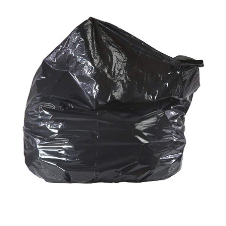 APQ Pack of 100 Repro Trash Bags 40 x 46. 40-45 Gallon. Extra Durable Polyethylene Trash Bags, 1.5 mil. Black Garbage Can Liners 40x46. Puncture, Tear Resistant. Great for Offices, Schools, Kitchen. (Can Puncture)