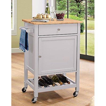 Major-Q 9098300 Natural and Gray Finish Wheeled Kitchen ...