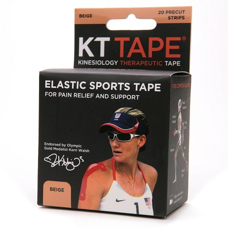 KT Tape Kinesiology Therapeutic Tape Precut Strips,Beige 20.0 ea(pack of 1)