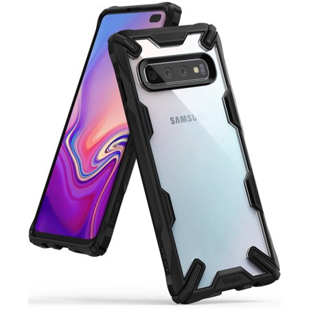 Tech Case - Galaxy S10 Plus Case, Ringke [FUSION-X] Anti-Cling Dot Matrix Tech PC Back Lightweight Renovated Double Shock Absorbing TPU Bumper [Mil Grade Drop Protection] for Samsung Galaxy S10Plus - Black