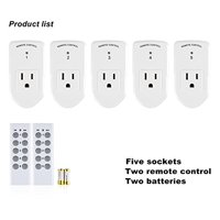 BN-LINK Wireless Remote Control Electrical Outlet Switch for Household Appliances, White (Learning Code, 5Rx-2Tx)