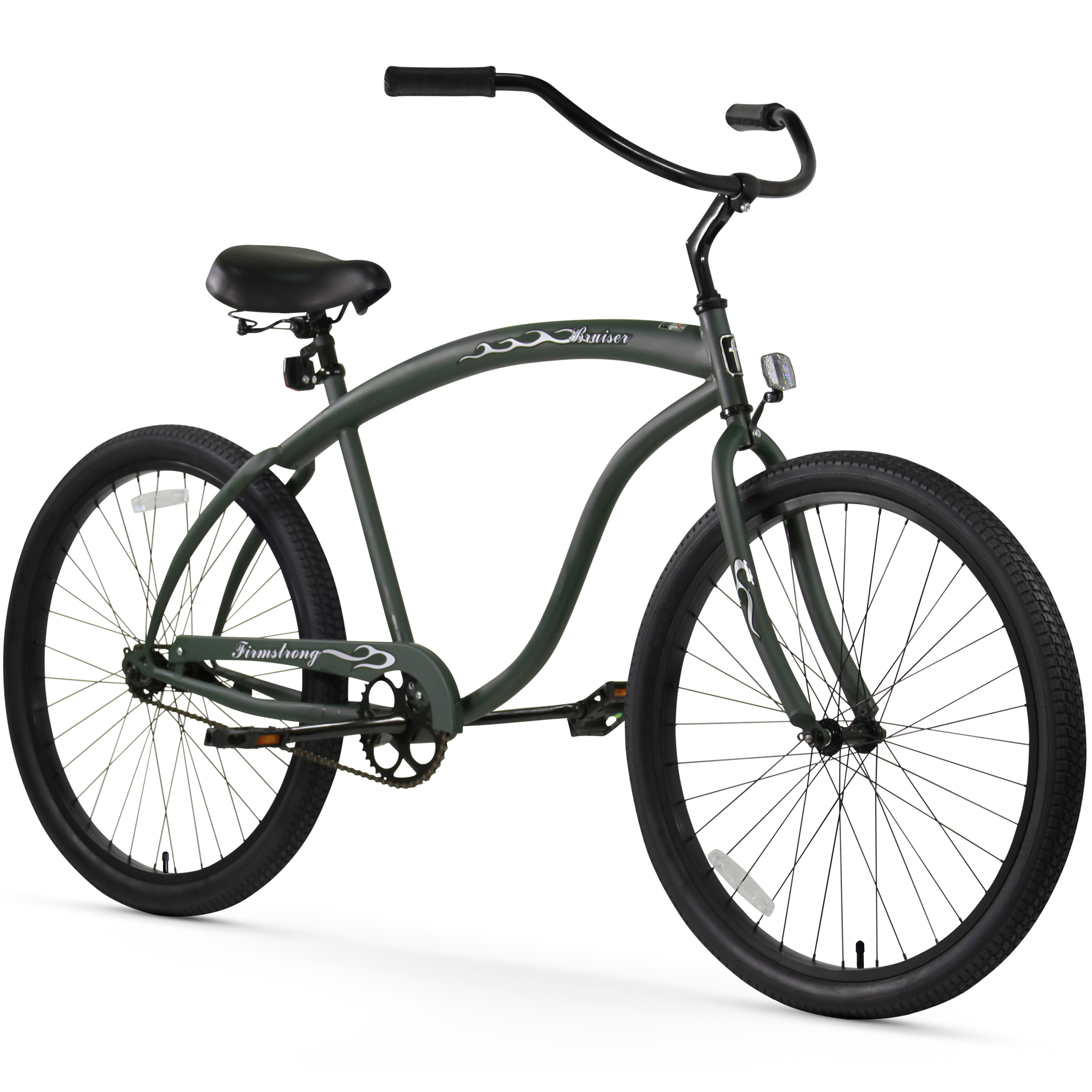 "Firmstrong Bruiser , 26"", Men's, Single Speed, Matte Army Green"