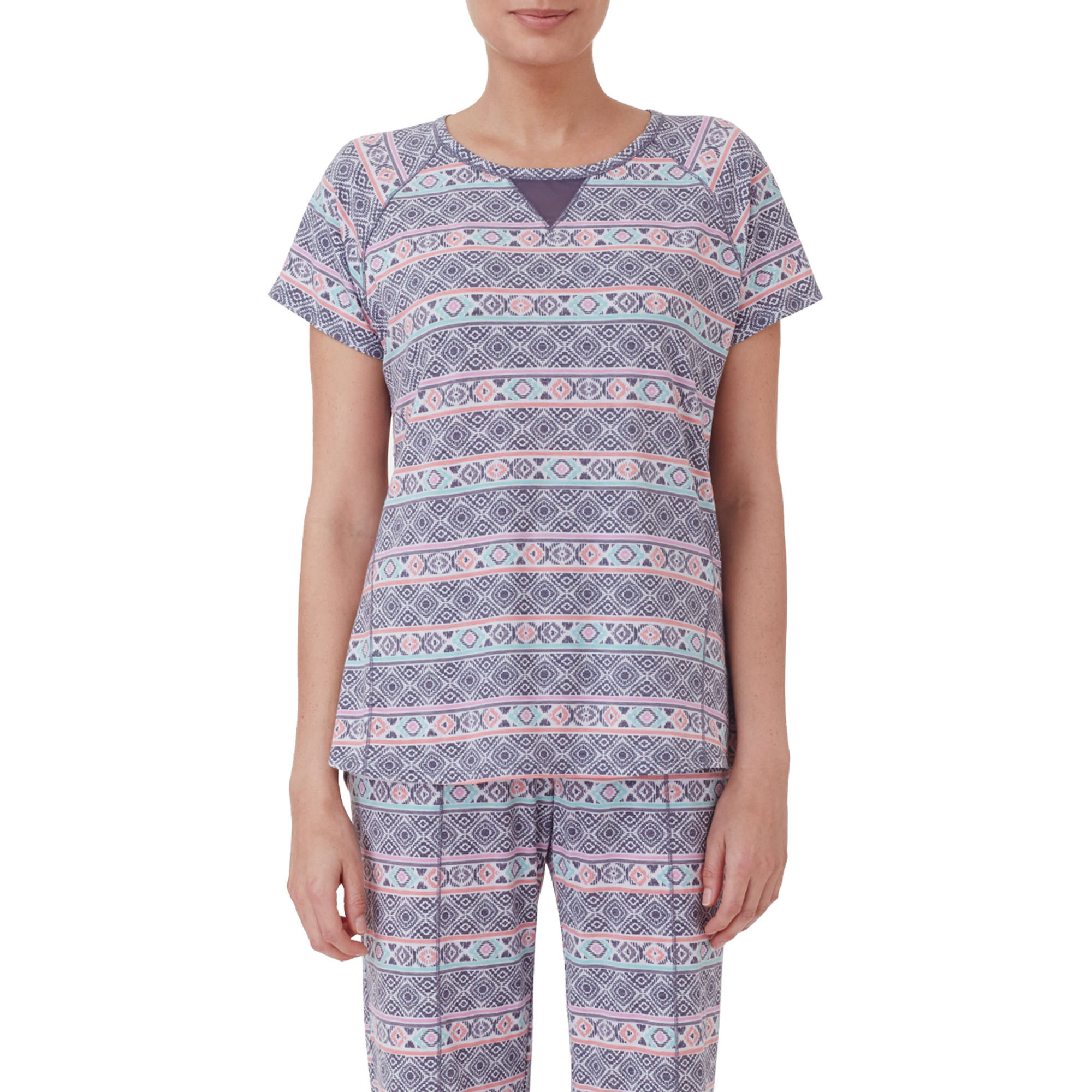 ClimateRight by Cuddl Duds Women's Short Sleeve Sleep Tee with Mesh