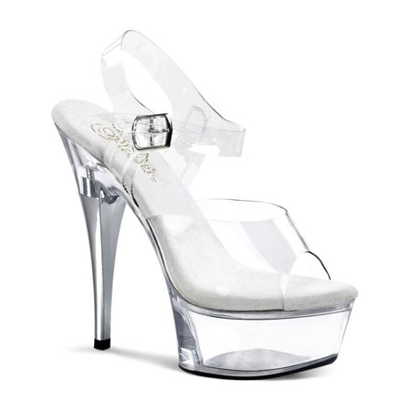 6 Inch High Heel Platform Shoe Clear Stripper Shoes (8 Inch Stripper Shoes)