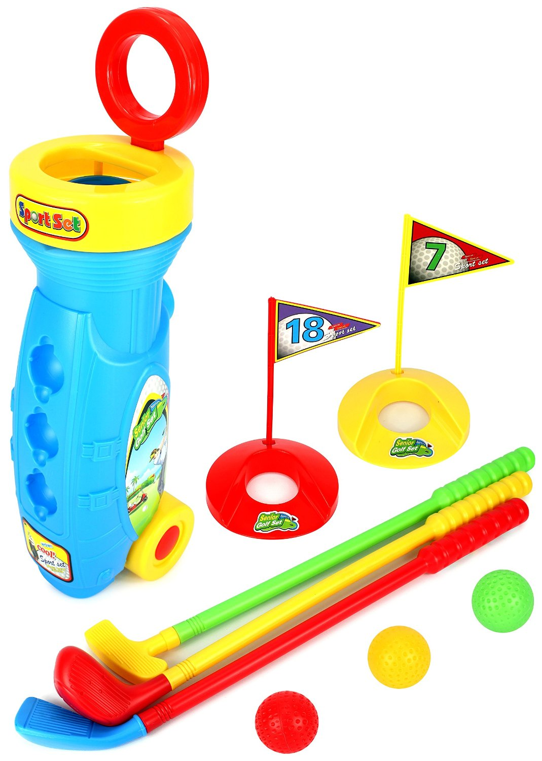 Velocity Toys Golf Master Sport Children's Kid's Toy Golf Play Set w  3 Balls, 3 Clubs, 2... by Supplier Generic