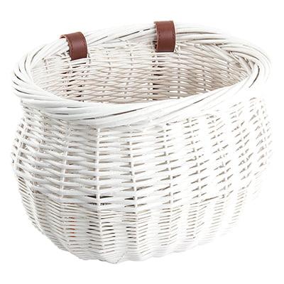 Sunlite Willow Bushel Strap-On Basket, 8x13x9in, White (Willow Bike Baskets)