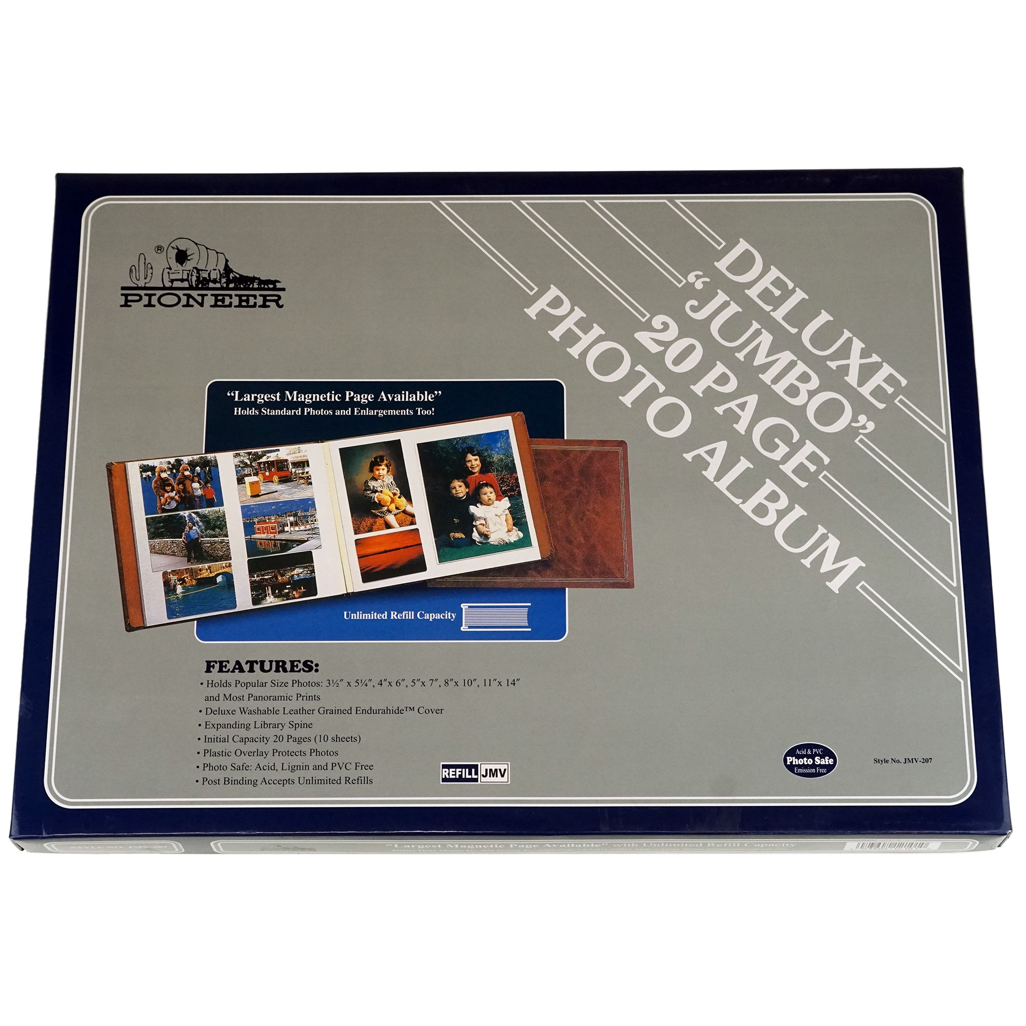 Pioneer Jumbo Magnetic Page X Pando Photo Album 4 Pack Assorted