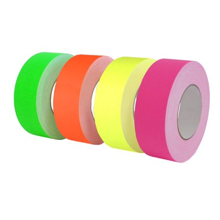 WOD CGT-80 Gaffer Tape Fluorescent Green Low Gloss Finish Film - 2 in. X 60 Yards (Pack of 24) Bulk Case - Residue Free & Non Reflective Gaffer (Available in Multiple (Pink Reflective Tape)