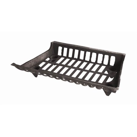 "24"" Fireplace Log Grate in Cast Iron"