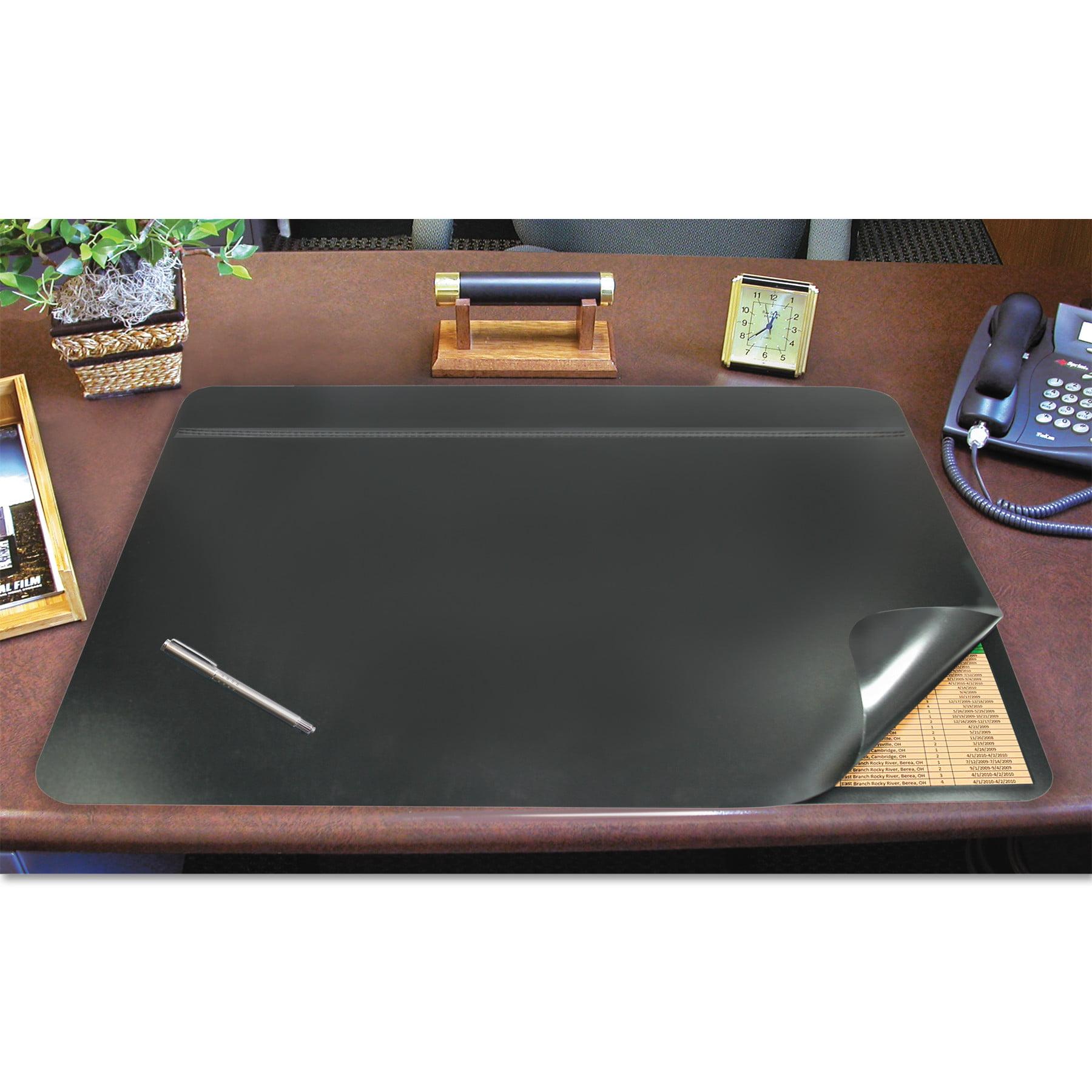 Artistic Hide-Away PVC Desk Pad, 31 x 20, Black -AOP48043S by ARTISTIC LLC