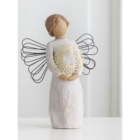 Willow Tree Sweetheart Angel Holding a Heart Wreath Figurine 27344 Christmas New ()