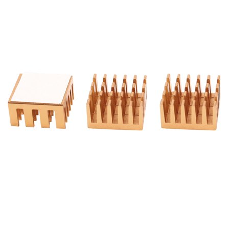 3pcs Memory Chipset Cooler Heatsink Heat Sink Copper Tone for IC SD/DDR RAM VGA