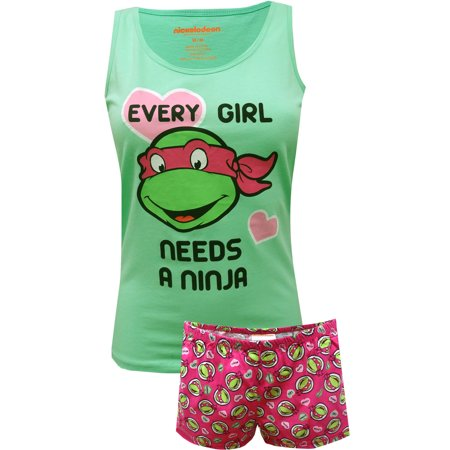 Teenage Mutant Ninja Turtle Ladies Shortie Pajama - Ninja Pajamas