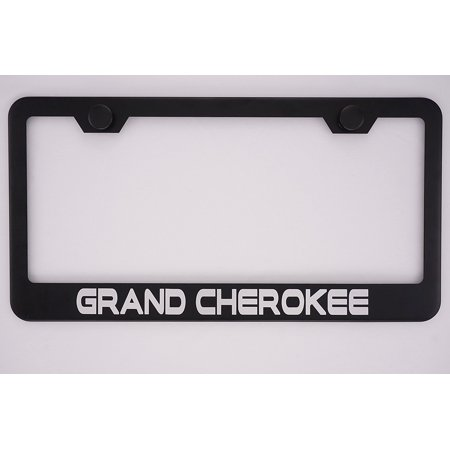 Jeep Grand Cherokee Black License Plate Frame with Caps, By PRC ...