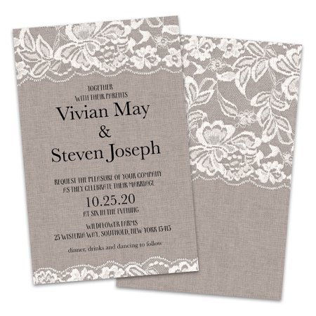 Personalized Burlap and Lace Wedding Invitations - Wedding Invitation Maker