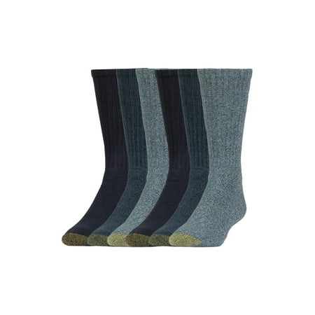 Gold Toe Men's Harrington Casual Crew Socks, 6 (Gold Toe Crew Sport Socks)