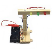 Wood Traffic Lights DIY Kit Kids Toy DIY Kit for Children Science and Technology Inventions Assembled Experiment DIY Model Building Kits