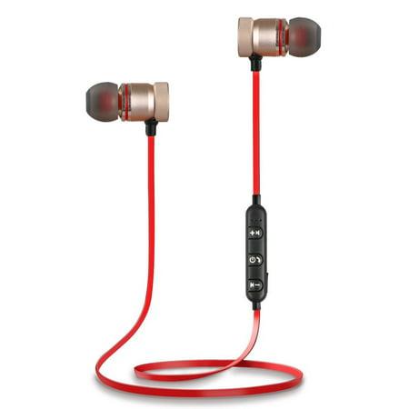 Bluetooth 4.1 Headphones Wireless Magnetic Sports Earphones Earbuds Gym Headset (Earphone Magnetic)
